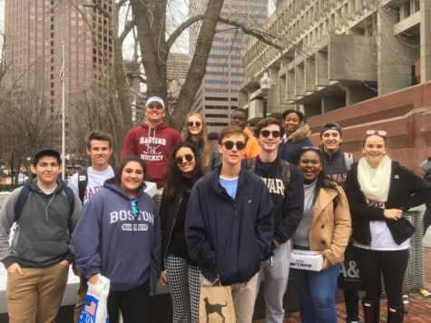 Cardinal Newman debate team exploring Boston.